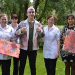Local artist paints for Breast Care Unit